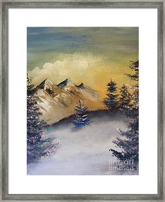 Small Pine  Framed Print by Crispin  Delgado