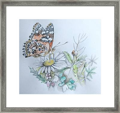 Framed Print featuring the drawing Small Pleasures by Rose Legge