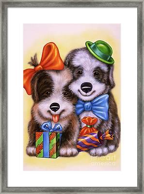 Small Puppy 12 Framed Print