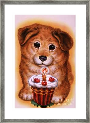 Small Puppy 14 Framed Print