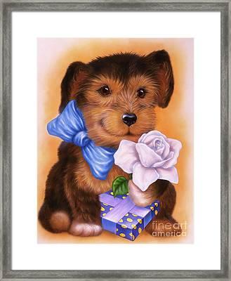 Small Puppy 21 Framed Print