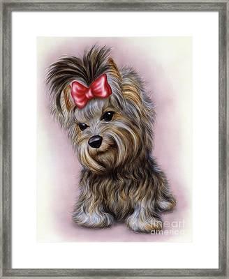Small Puppy 7 Framed Print