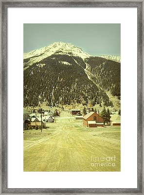 Framed Print featuring the photograph Small Rocky Mountain Town by Jill Battaglia