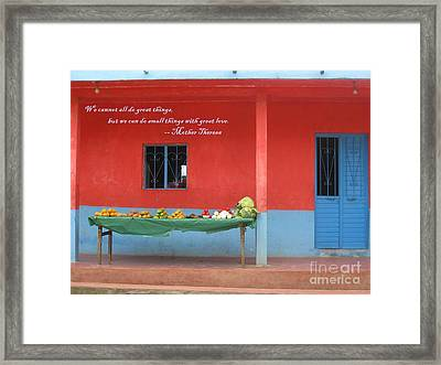 Small Things With Great Love Framed Print by Stav Stavit Zagron