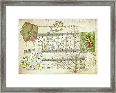 Small Tortoiseshell Butterfly Collage Framed Print by Jan Bickerton