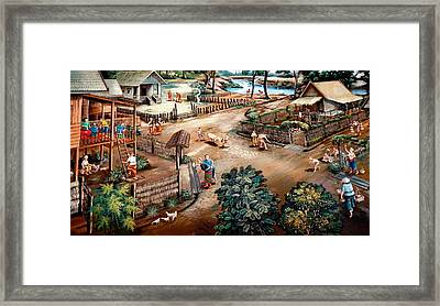 Small Town Community Framed Print