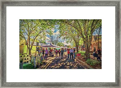 Framed Print featuring the photograph Small Town Festival by Lewis Mann