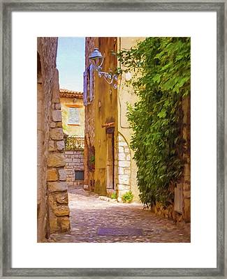 Small Town France Framed Print