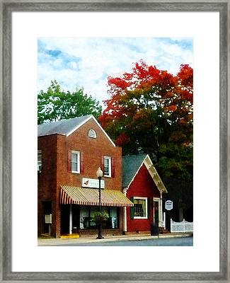 Small Town In Autumn Framed Print