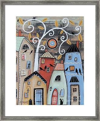 Small Town Framed Print by Karla Gerard