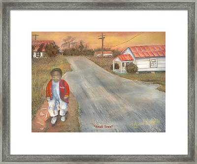 Small Town Framed Print by Lee Hood