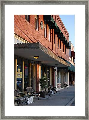 Small Town Street Framed Print by Kimberly Camacho