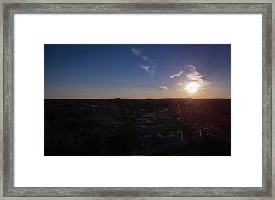 Small Town Sun Framed Print