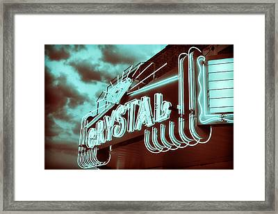 Small Town Theater Framed Print by Tony Grider
