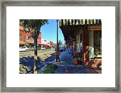 Small Town U. S. A. Framed Print by HH Photography of Florida