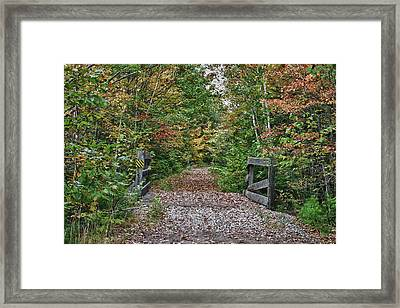 Framed Print featuring the photograph Small Trestle Along Rail Trail by Jeff Folger