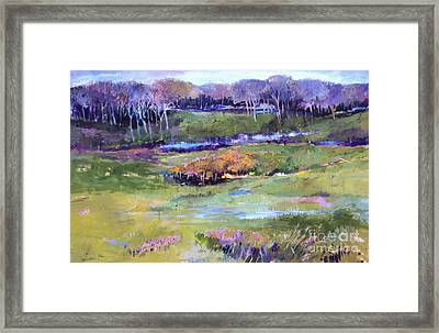 Framed Print featuring the painting Small Valley by Diane Ursin