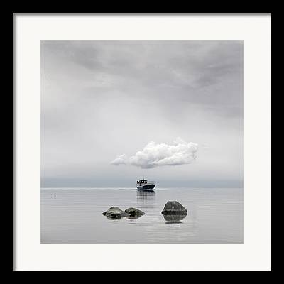 Fishboat Framed Prints