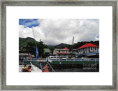Framed Print featuring the photograph Small Village by Gary Wonning