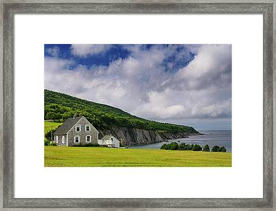 Small Village Of Capstick At The North Tip Of Cape Breton Island Framed Print