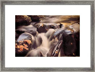 Small Waterfall In Autumn Framed Print by Dan Sproul