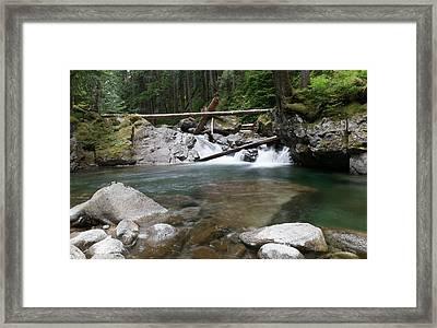 Small Waterfall On Deception Creek Framed Print by Jeff Swan