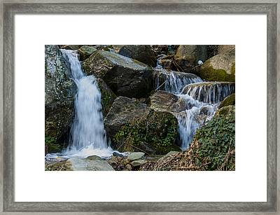 Small Waterfall Pelion Peninsula Framed Print by Reuven Emanuel