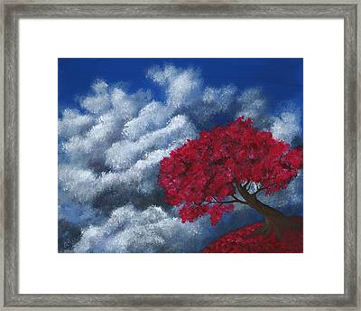 Framed Print featuring the painting Small World by Anastasiya Malakhova