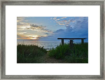 Small World Sunrise   Framed Print