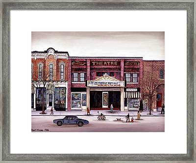 Smalley's Theater, Cooperstown, N.y. Framed Print