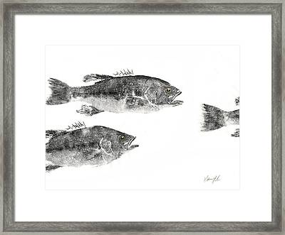 Smallmouth Framed Print by Nate Huber