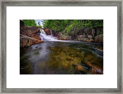Smalls Falls And The Sandy River Framed Print