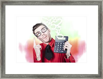 Smart Accountant Showing Income Tax Return Growth Framed Print by Jorgo Photography - Wall Art Gallery