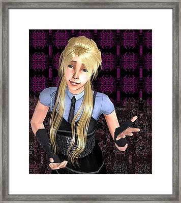 Smart Ass Framed Print by Robert Moore