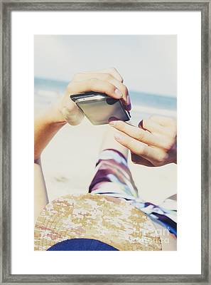 Smart Holiday Apps Framed Print by Jorgo Photography - Wall Art Gallery