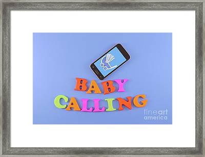 Smartphone With Image Of A Baby Stroller Framed Print
