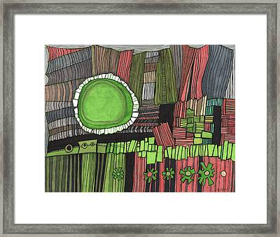 Sun Gone Green Framed Print