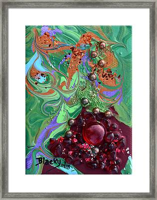 Smashing A Pomegranate Framed Print