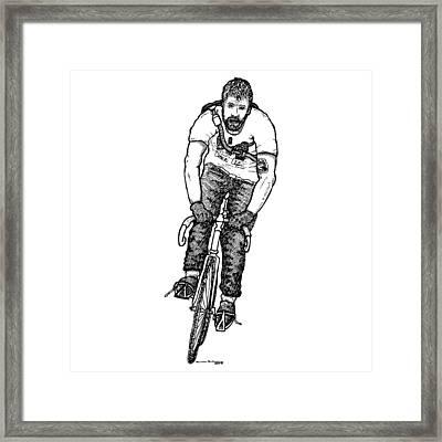 Smashing Bike Messenger Framed Print by Karl Addison