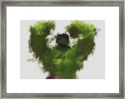 Smashing Green Framed Print by Miranda Sether
