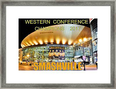 Framed Print featuring the photograph Smashville Western Conference Champions 2017 by Lisa Wooten