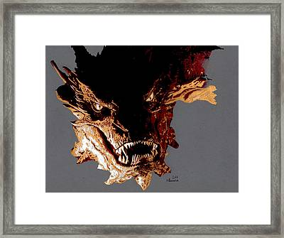 Smaug The Terrible Framed Print by Kayleigh Semeniuk