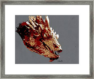 Smaug The Unassessably Wealthy Framed Print