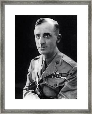 Smedley Butler - U. S. Marines General - 2 Time Medal Of Honor Recipient Framed Print