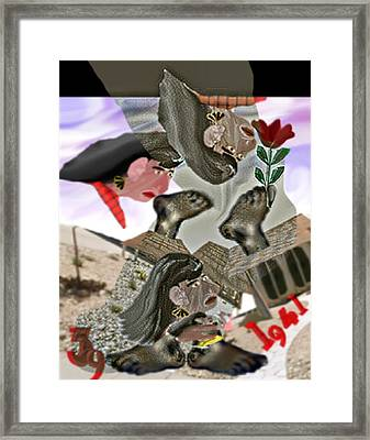 Smell My Feet Framed Print by Marcia Kaye Rogers