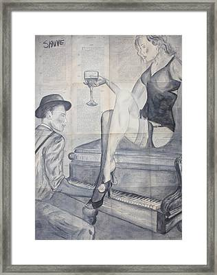 Smell Of Wine And Cheap Perfume Framed Print by Jason  Sauve