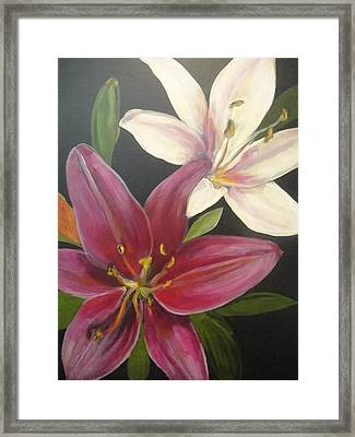 Smell The Lilies Framed Print