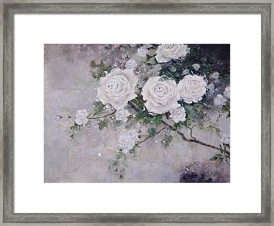 Smell The Roses  Framed Print by Laura Lee Zanghetti