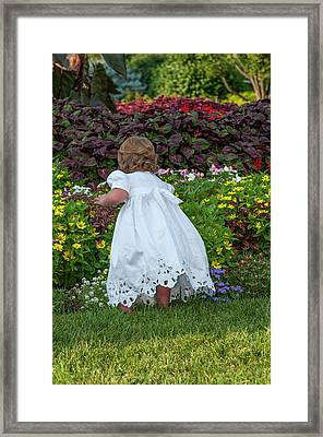 Smelling The Flowers Framed Print