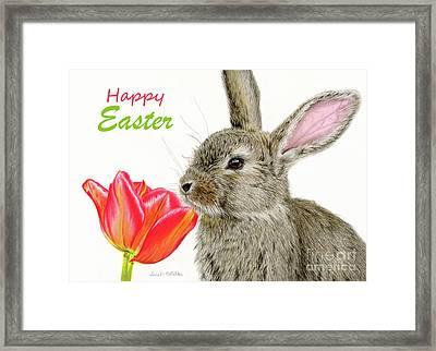 Smells Like Spring- Happy Easter Cards Framed Print
